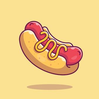 Ícone de cachorro-quente. coleção de fast-food. ícone de comida isolado