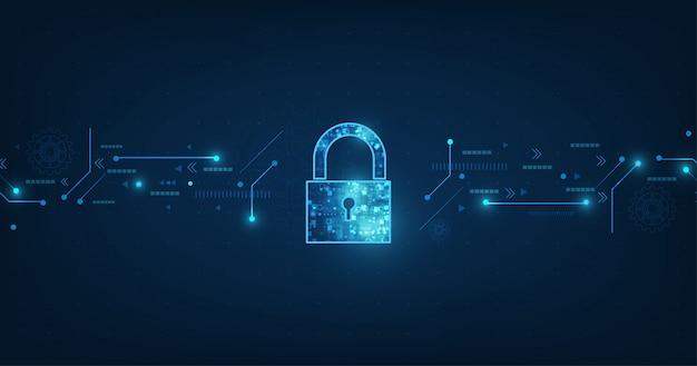 Ícone de cadeado com fechadura na segurança de dados pessoais ilustra a ideia de privacidade de dados ou informações cibernéticas.