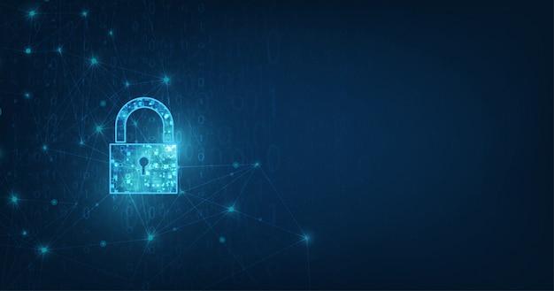 Ícone de cadeado com fechadura na segurança de dados pessoais