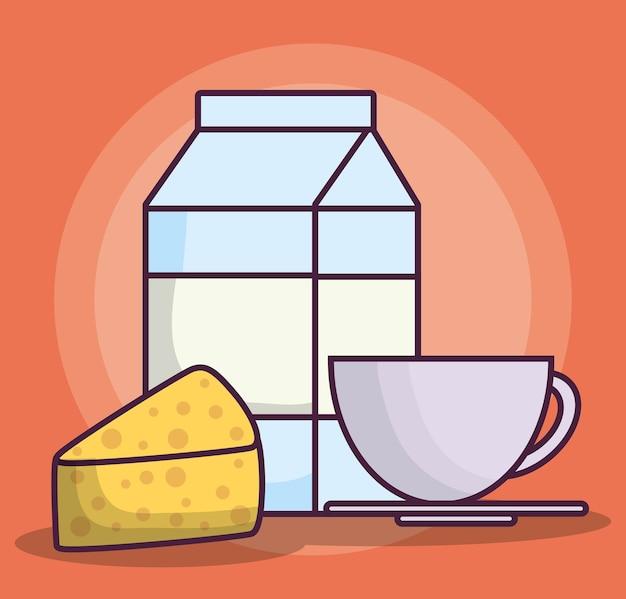 Ícone de caixa de leite