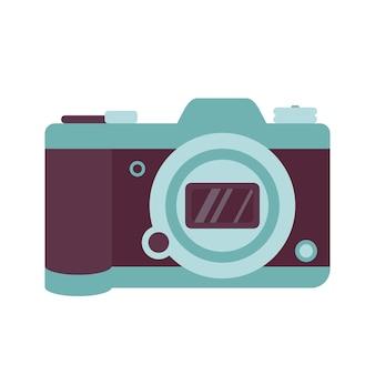 Ícone de câmera fotográfica, um acessório de moda moderno
