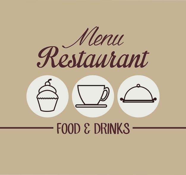 Ícone de capa de restaurante menu