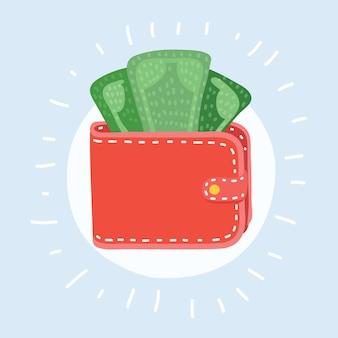Ícone de carteira ícone de dinheiro