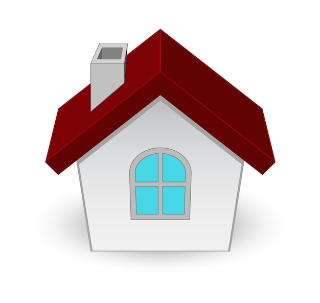 Ícone de casa 3d isolado