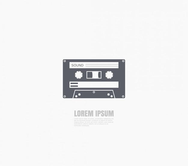 Ícone de cassete de áudio da velha escola