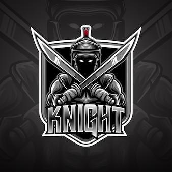 Ícone de cavaleiro do logotipo esport
