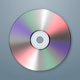 Ícone de cd realista. modelo de design.