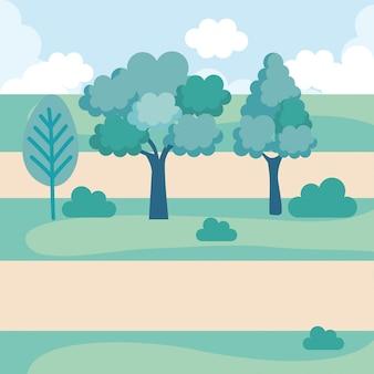 Ícone de cena do parque paisagístico
