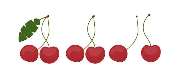 Ícone de cereja em um estilo simples. cereja doce isolada em um fundo branco