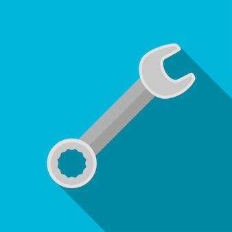 Ícone de chave plana ilustração isolado símbolo de sinal de vetor