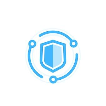 Ícone de cibersegurança, conceito de proteção de dados