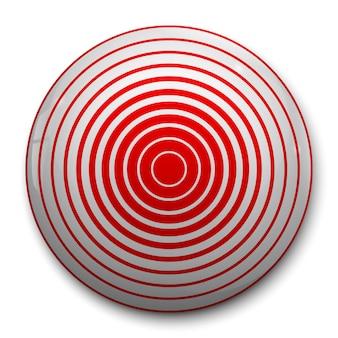 Ícone de círculo vermelho de dor 3d