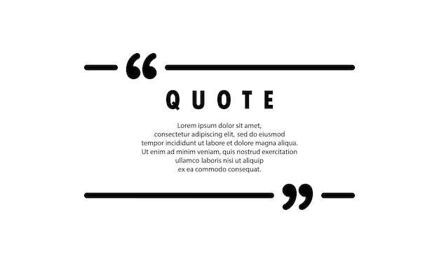 Ícone de citação. contorno de citação, balão, aspas invertidas ou coleção de marca falante com espaço vazio. em branco para o seu texto. quadro. vetor eps 10. isolado no fundo.