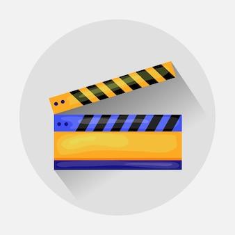 Ícone de claquete para gravação de vídeo.