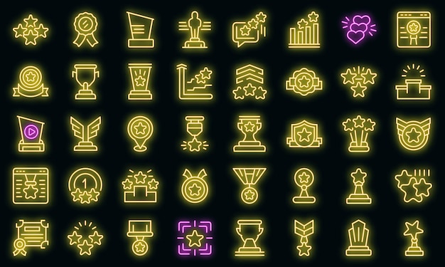 Ícone de classificação. contorno de classificação de ícone de vetor de cor neon em preto