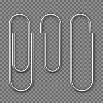 Ícone de clipe de papel realista.