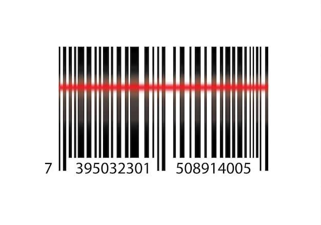 Ícone de código de barras realista. um código de barras simples e moderno. marketing, o conceito de internet. sinal elegante de uma marca registrada de mercado para design de sites e aplicativos móveis.