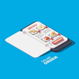 Ícone de comida de pedidos on-line