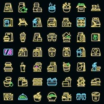 Ícone de comida para viagem, estilo de contorno