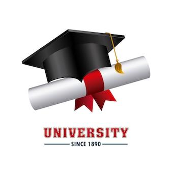 Ícone de conceito de emblema de universidade