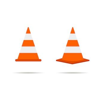 Ícone de cone de trânsito