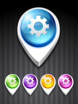 Ícone de configuração de vetor design art