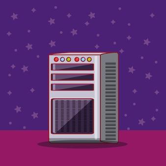 Ícone de console de videogame sobre fundo roxo