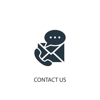 Ícone de contato. ilustração de elemento simples. contacte-nos design de símbolo de conceito. pode ser usado para web e celular.