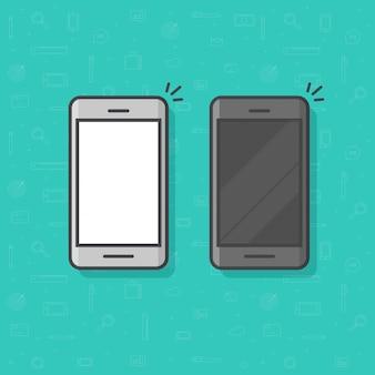 Ícone de contorno de linha de celular