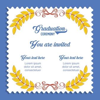 Ícone de convite de cartão de formatura