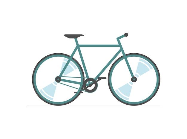 Ícone de cor de bicicleta sinal de silhueta colorida de roda de bicicleta em fundo branco transporte de bicicleta na cidade