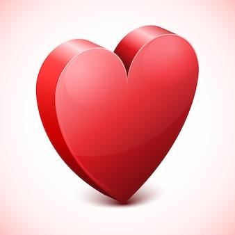 Ícone de coração vermelho abstrato