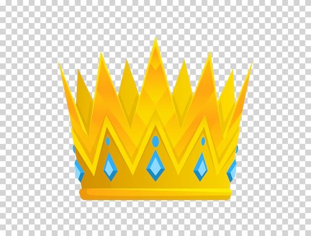 Ícone de coroa de ouro. crown awards para vencedores, campeões, liderança
