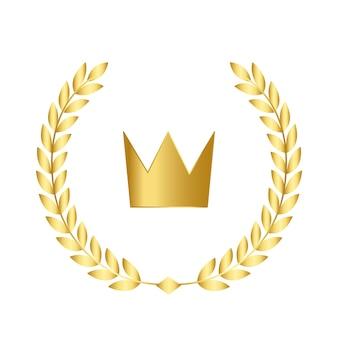 Ícone de coroa de qualidade premium