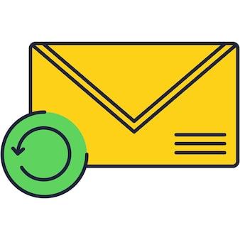 Ícone de correio, ilustração vetorial de carta de notificação de caixa de entrada de nova mensagem. aviso de e-mail, símbolo de recebimento de boletim de endereço
