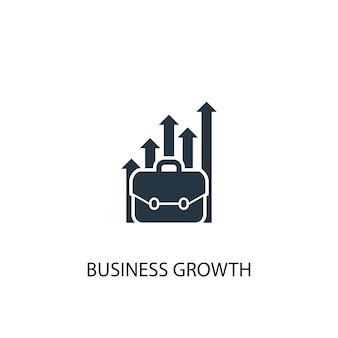 Ícone de crescimento de negócios. ilustração de elemento simples. design de símbolo de conceito de crescimento de negócios. pode ser usado para web e celular.