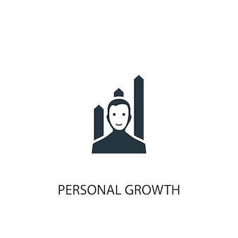 Ícone de crescimento pessoal. ilustração de elemento simples. design de símbolo de conceito de crescimento pessoal. pode ser usado para web e celular.