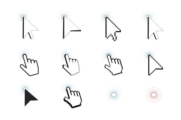 Ícone de cursor de pixel