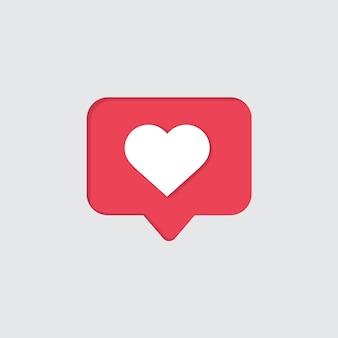 Ícone de curtir de notificações de mídia social
