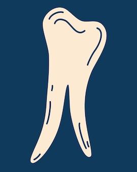 Ícone de dente. símbolo do dente médico. conceito de dente saudável. dental.