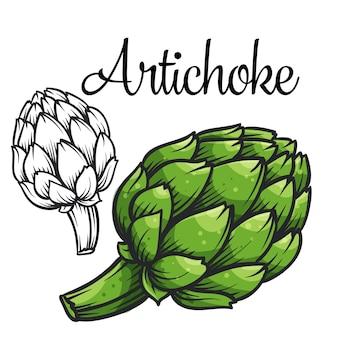 Ícone de desenho de alcachofra