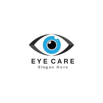 Ícone de design de logotipo de vetor de cuidados com os olhos