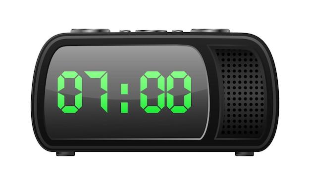 Ícone de design retro de rádio-relógio