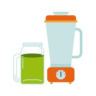 Ícone de desintoxicação e liquidificador. projeto de alimentos orgânicos. gráfico de vetor