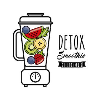 Ícone de desintoxicação tropical. smoothie e suco de design. gráfico de vetor