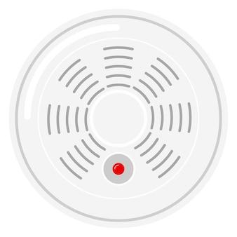 Ícone de detector de fumaça inteligente autônomo isolado no fundo branco.