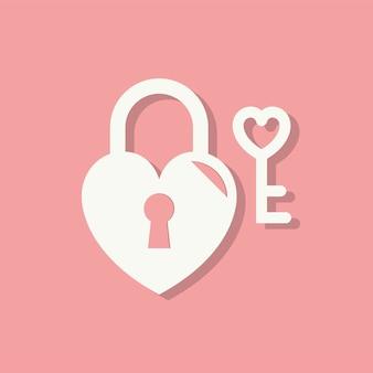 Ícone de dia dos namorados de bloqueio de coração