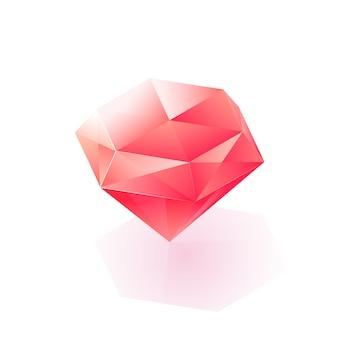 Ícone de diamante claro isométrico brilhante