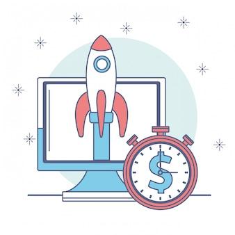 Ícone de dinheiro e negócios
