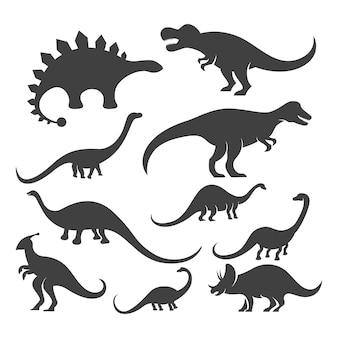 Ícone de dinossauro projeto de ilustração vetorial de modelo